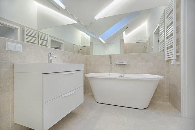Handdoekkachel-badkamer